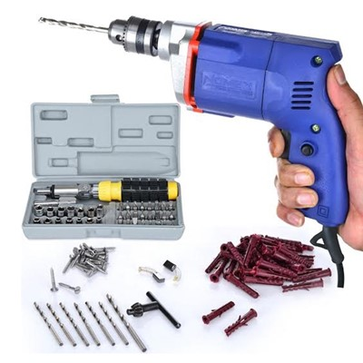112 Piece Drill Machine Screwdriver Set Combo