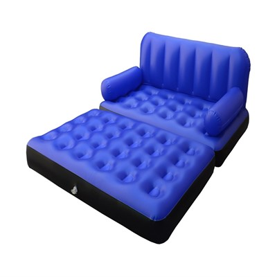 5 in 1 air sofa dark blue