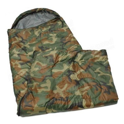 Military Army Camouflage Waterproof Hood Camping Hiking Travel Sleep For Single Person Sleeping Bag camo
