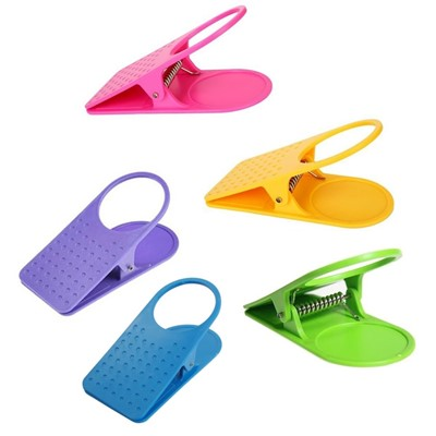 Table Clip Cup Holder Set of 5 Colors